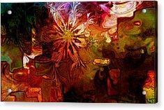 Cosmic Bloom Acrylic Print by Amanda Moore