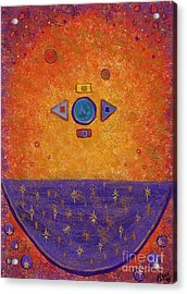 Cosmic Cauldron Acrylic Print by Tharsis Artworks