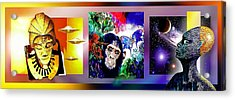 Cosmic Citizen Acrylic Print by Hartmut Jager