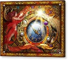 Cosmic Clock Acrylic Print by Ciro Marchetti