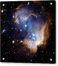 Cosmic Cloud  Ngc602 Acrylic Print by Celestial Images