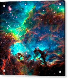 Cosmic Cradle 2 Star Cluster Ngc 2074 Acrylic Print by Jennifer Rondinelli Reilly - Fine Art Photography