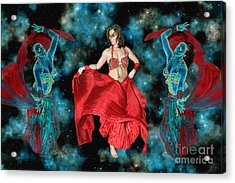 Cosmic Dance Acrylic Print by Ursula Freer