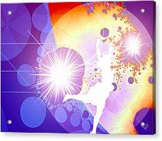 Cosmic Dance Acrylic Print by Ute Posegga-Rudel