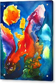 Cosmic Fire Abstract  Acrylic Print by Carlin Blahnik