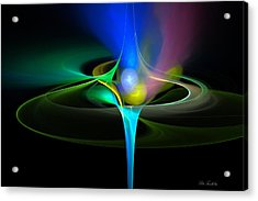 Acrylic Print featuring the digital art Cosmic Flare by Pete Trenholm