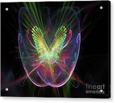 Cosmic Flight Acrylic Print by Peter R Nicholls