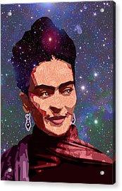 Cosmic Frida Acrylic Print by Douglas Simonson