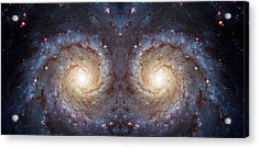 Cosmic Galaxy Reflection Acrylic Print by Jennifer Rondinelli Reilly - Fine Art Photography