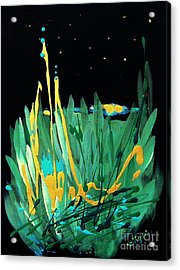 Acrylic Print featuring the painting Cosmic Island by Holly Carmichael