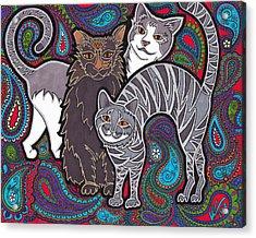 Cosmic Kittehs Acrylic Print
