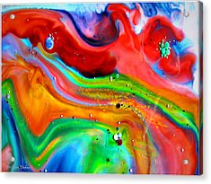 Acrylic Print featuring the painting Cosmic Lights by Joyce Dickens