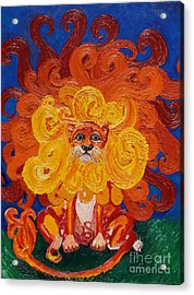 Cosmic Lion Acrylic Print by Cassandra Buckley