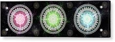 Acrylic Print featuring the digital art Cosmic Medallians Rgb 1 by Shawn Dall