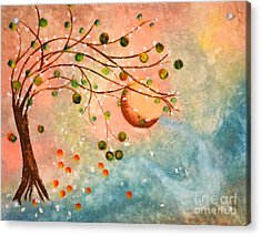 Cosmic Orb Tree Acrylic Print by Denise Tomasura