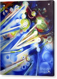 Cosmic Orbs #7 Acrylic Print by Yael Avi-Yonah