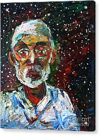 Cosmic Palette Self-portrait Acrylic Print by Charlie Spear