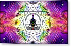 Cosmic Spiral Ascension 14 Acrylic Print by Derek Gedney