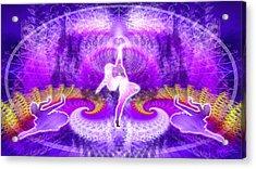 Cosmic Spiral Ascension 27 Acrylic Print by Derek Gedney