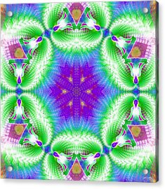 Cosmic Spiral Kaleidoscope 10 Acrylic Print by Derek Gedney