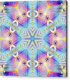 Cosmic Spiral Kaleidoscope 17 Acrylic Print by Derek Gedney