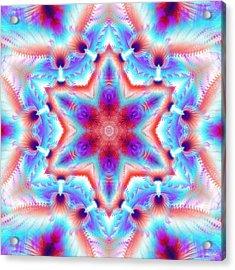 Cosmic Spiral Kaleidoscope 45 Acrylic Print