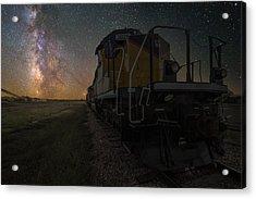 Cosmic Train Acrylic Print by Aaron J Groen