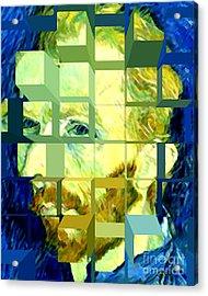 Cosmic Van Gogh Portrait Acrylic Print by Jerome Stumphauzer