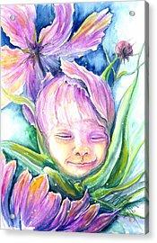 Cosmos Bud Acrylic Print