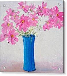 Cosmos Flowers Acrylic Print by Jan Matson