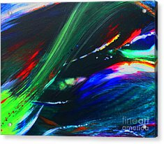 Acrylic Print featuring the painting Cosmos by Jeanette French