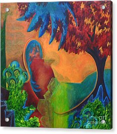 Acrylic Print featuring the painting Costa Mango by Elizabeth Fontaine-Barr