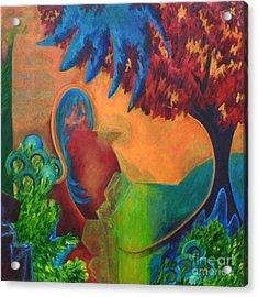 Costa Mango Acrylic Print by Elizabeth Fontaine-Barr