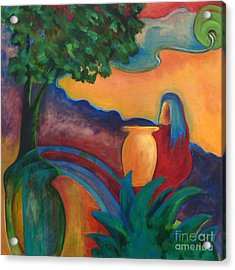Acrylic Print featuring the painting Costa Mango II by Elizabeth Fontaine-Barr