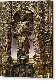 Costa, Pablo 1672-1728. Main Altarpiece Acrylic Print by Everett