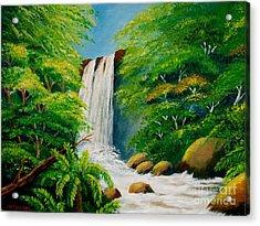 Costa Rica Waterfall Acrylic Print