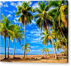 Acrylic Print featuring the painting Costa Rican Paradise by Michael Pickett