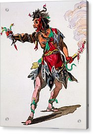 Costume Design For A Fury Acrylic Print by French School
