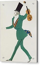 Costume Design For Paganini In The Enchanted Night Acrylic Print by Leon Bakst