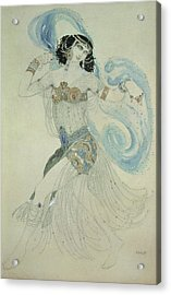 Costume Design For Salome In Dance Of The Seven Veils, 1909 Wc Acrylic Print by Leon Bakst