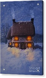 Cosy Country Cottage Acrylic Print by Amanda Elwell