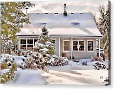 Cosy In Winter Acrylic Print by Louise Heusinkveld