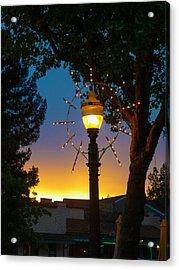 Acrylic Print featuring the photograph Cotati Lights by Jan Davies
