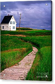 Cottage Among The Dunes Acrylic Print by Edward Fielding