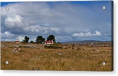 Cottage And Rocky Barren Landscape Acrylic Print