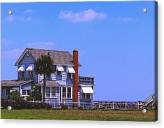 Acrylic Print featuring the photograph Cottage Blue by Laura Ragland