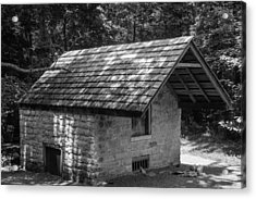 Acrylic Print featuring the photograph Cottage By The Stream At The Hermitage by Robert Hebert