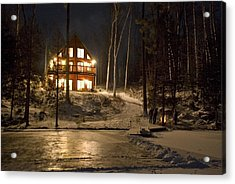 Cottage Country - Winter Acrylic Print by Pat Speirs