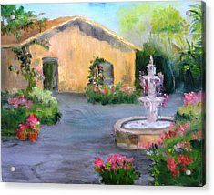 Cottage Courtyard Acrylic Print
