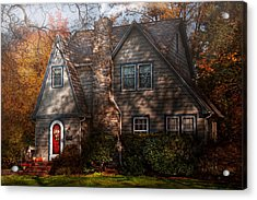 Cottage - Cranford Nj - Autumn Cottage  Acrylic Print by Mike Savad